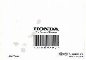 Honda Cb600f 2010 Owners Manual