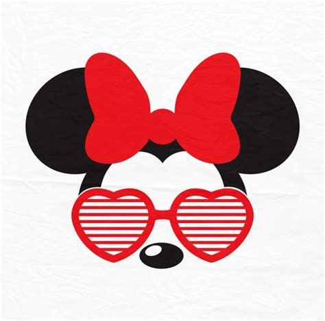 Eps file for adobe illustrator, inkspace, corel draw and more. Disney Mickey Minnie Mouse Aviators Sunglasses Heart
