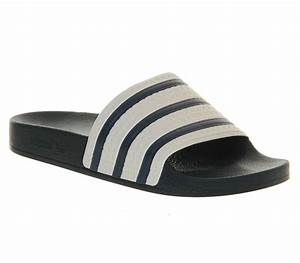 Mens Adidas Adilette Sliders ADI BLUE WHITE Trainers Shoes ...