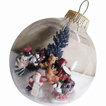 Glass Clear Ornament Folk Transparent Tree Scene