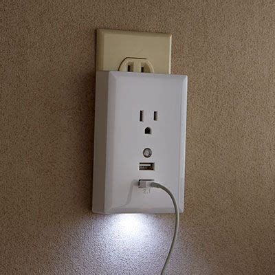 usb wall plate charger with nightlight 27 95 add usb
