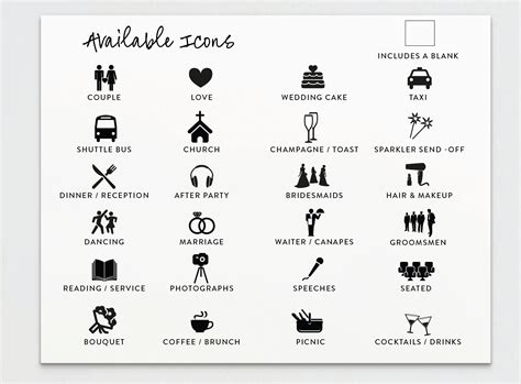 wedding timeline itinerary card timeline card order