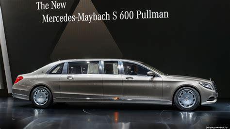 Wallpaper Mercedes Maybach S600 Pullman, Sedan, Grey