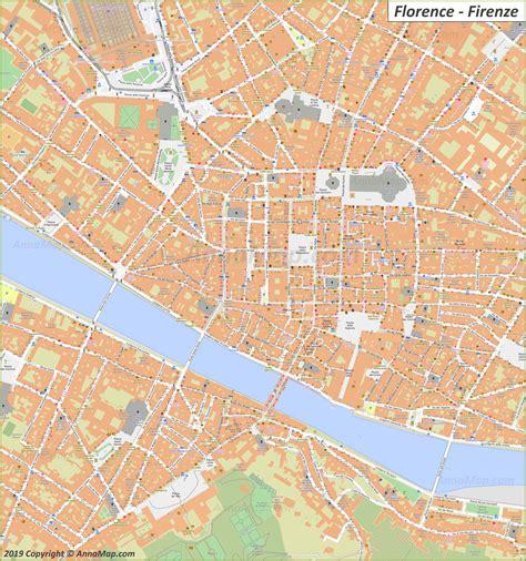 detailed tourist maps  florence italy  printable