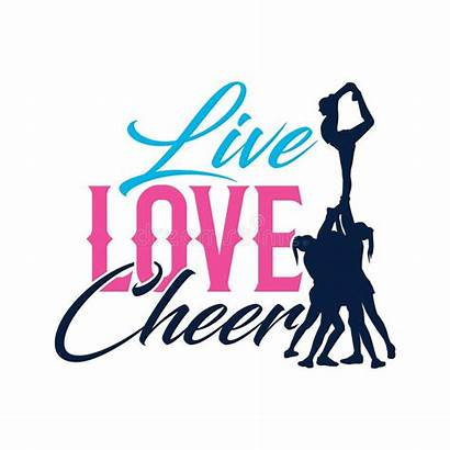Cheer Silhouette Cheerleading Cheerleader Typo Flyer Quote