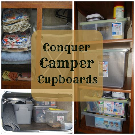 rv kitchen storage ideas conquer cer cupboards 5035