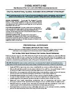 best resume format for marketing executive executive resume sles best resumes of new york ny