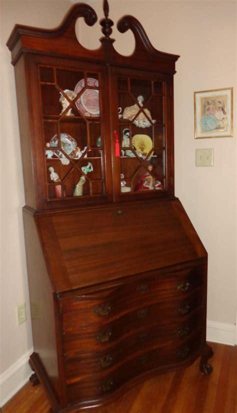 antique secretary desk with bookcase antique slant front secretary desk bookcase mahogany ball and