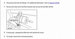 Where Is The Fuel Filter Located In A 2002 Ford