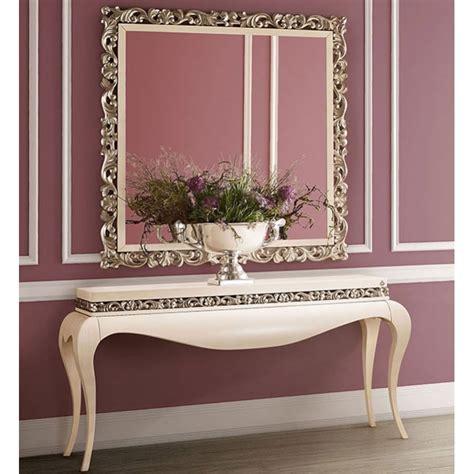 console baroque de luxe ivoire moulure   argent