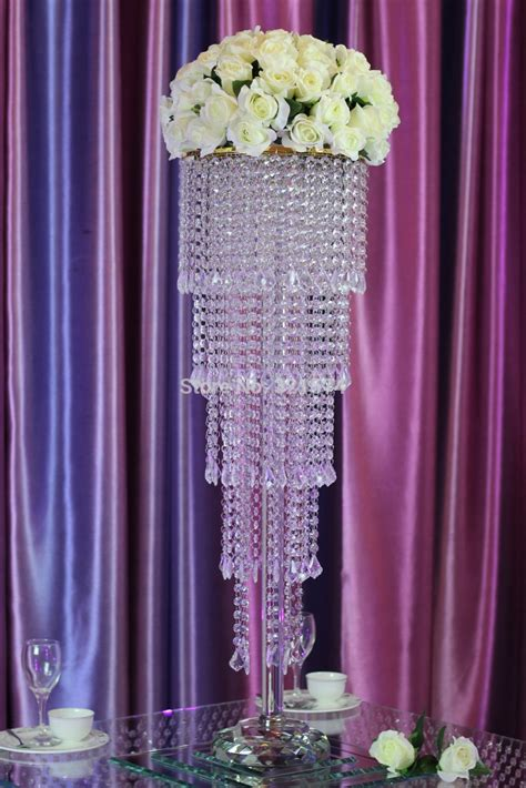 Aliexpress com : Buy Tall Round crystal flower stand