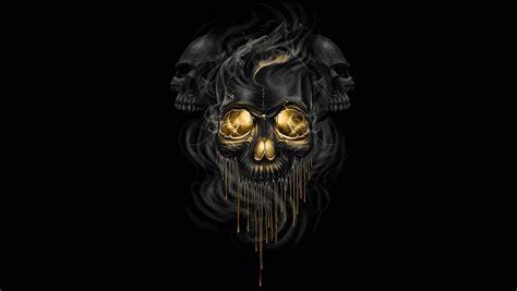 Black Skulls 3d Wallpapers by Fiction Black Background Skeletons Skull Smoke Hd