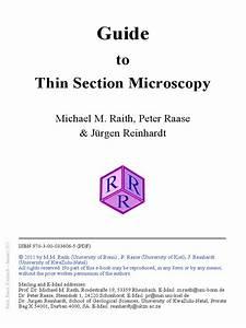 Guide To Thin Section Microscopy Raith  2012  Pdf