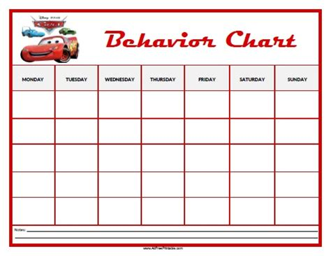 printable behaviour charts  school printable pages