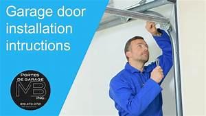 Installation Guide For A Garage Door