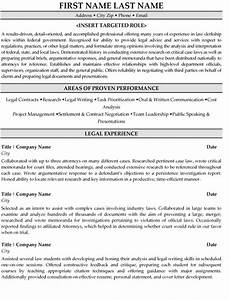 legal clerk resume sample template With legal resume template