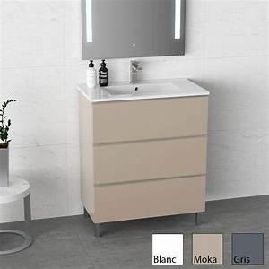 3 Suisses Meuble Salle De Bain : inglet meuble salle de bain brillants laqu 3 finitions 81cm vasque c ramique ~ Teatrodelosmanantiales.com Idées de Décoration