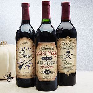 personalized wine bottle labels vintage