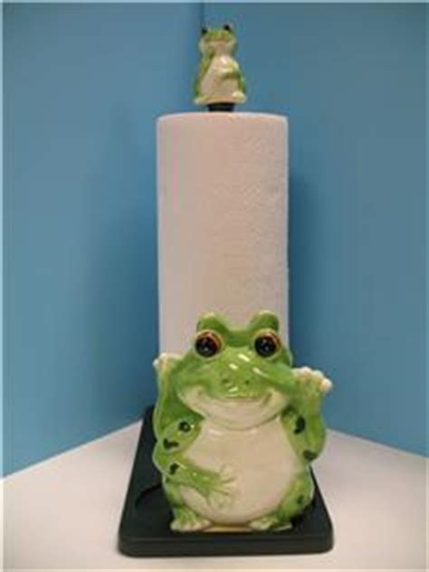 Green Frog Paper Towel Napkin Holder Kitchen Decor New  Ebay