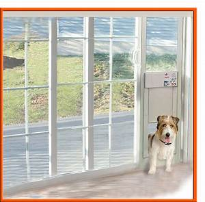 Power pet electronic pet door for sliding glass patio doors for Dog door window insert