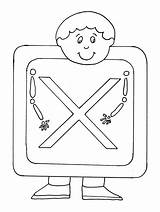 Coloring Pages Ray Xray Alphabet sketch template