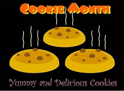 Yummy Cookies Month Delicious Cookie National Cards