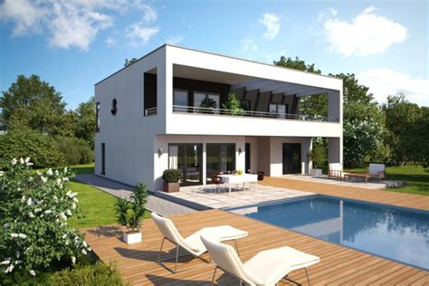 Fertighaus  Einfamilienhaus Als Kubus Im Bauhausstil
