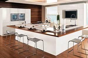 Cuisine Avec Ilot : ilot de cuisine avec coin repas inspirations avec a lot de ~ Melissatoandfro.com Idées de Décoration