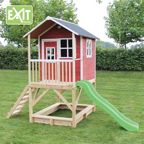 kinderspielhaus mit sandkasten kinder spielhaus hohes stelzen kinderspielhaus stelzenhaus hellbraun mit rutsche spielhaus
