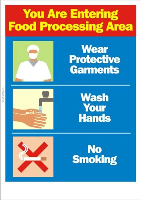 food safety poster   entering food processing area