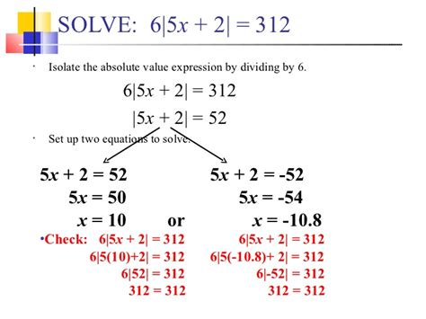 17 Solving Absolute Value Equations Part 2