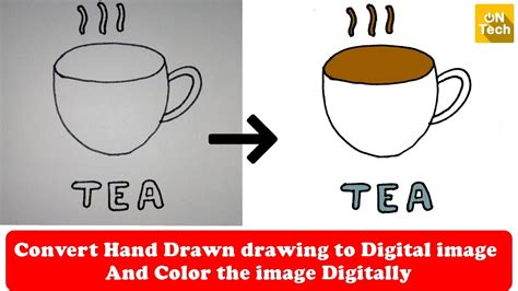 How To Convert Hand Drawn Drawing To Digital Image Youtube