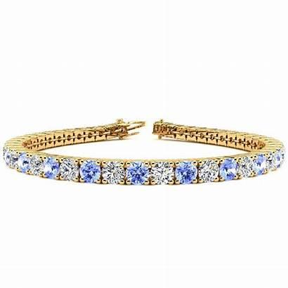 Tanzanite Carat Diamond Bracelet Tennis Zurke Inch