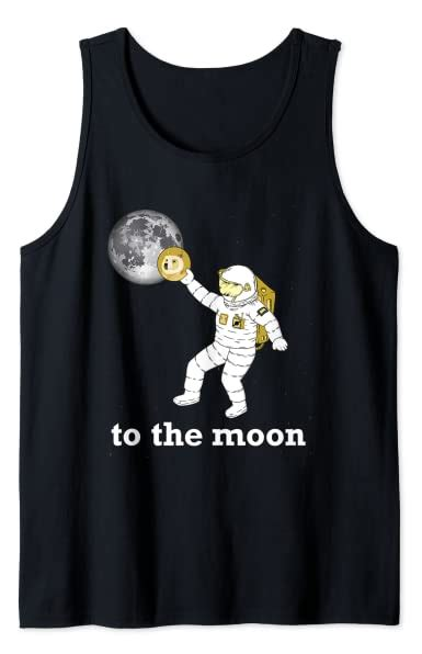 Dogecoin To The Moon Astronaut Doge Crypto HODL Tank Top ...