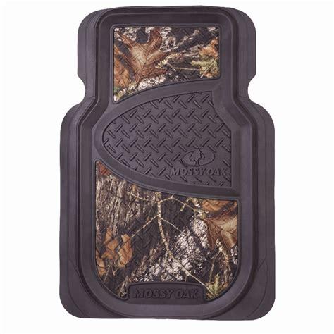 mossy oak 2 piece universal rubber floor mat set