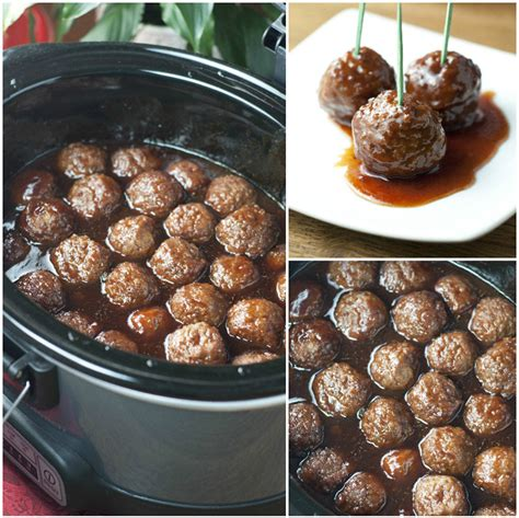 crock pot appetizers slow cooker grape jelly bbq cocktail meatballs wishes and dishes