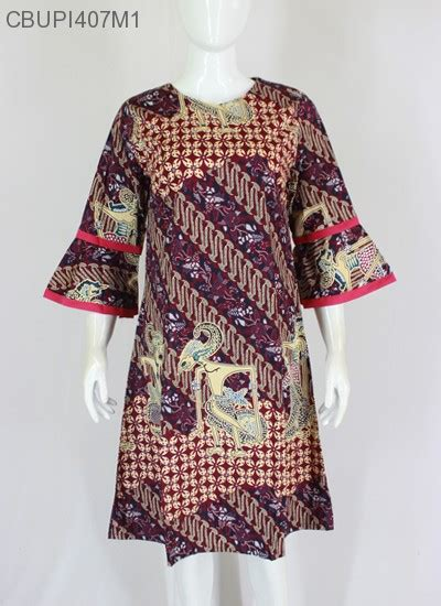 Dress Katun Aj dress batik katun stretch blus lengan tanggung