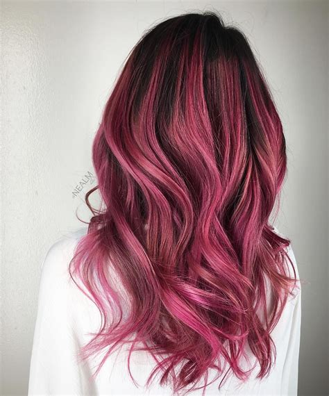 Black And Berry Ombre Hair Hair In 2019 Pinterest