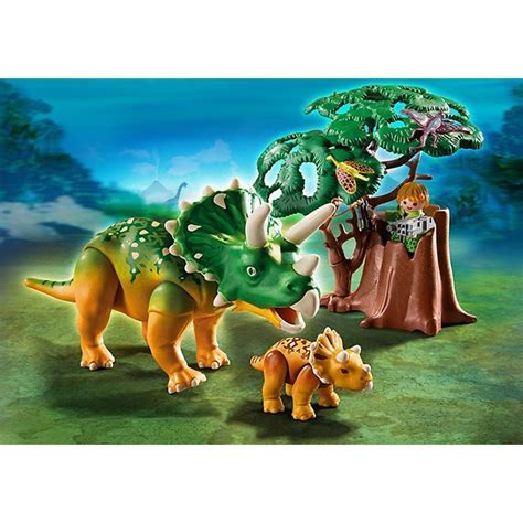 Playmobil Triceratops with Baby Dinosaur Playset