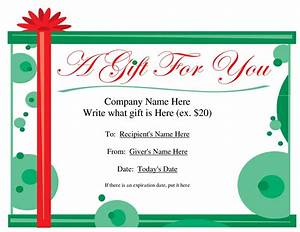 free printable gift certificate template free christmas With downloadable gift certificate template