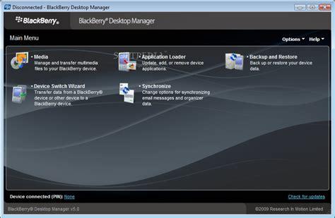 blackberry desktop software 5 0 1 available for