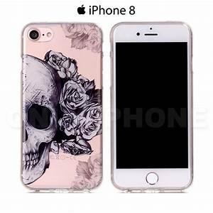 Tete De Mort Fleur : coque iphone 8 t te de mort fleurs etui iphone ~ Mglfilm.com Idées de Décoration