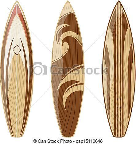 vecteur eps de planches surf bois planches surf isol 233 sur blanc csp15110648