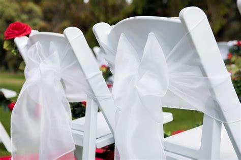 americana chair with white organza sash adelaide wedding