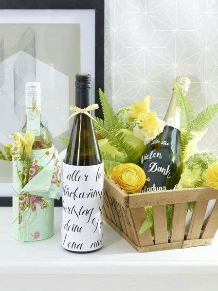 flaschen originell verpacken selber machen flaschen h 252 bsch verpacken so einfach geht s muttertag gift wrapping packaging und diy