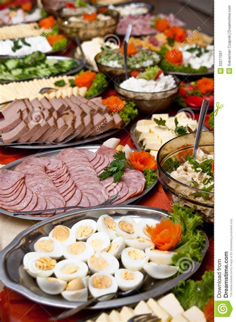 cuisine buffet food on buffet table stock image image of buffet table