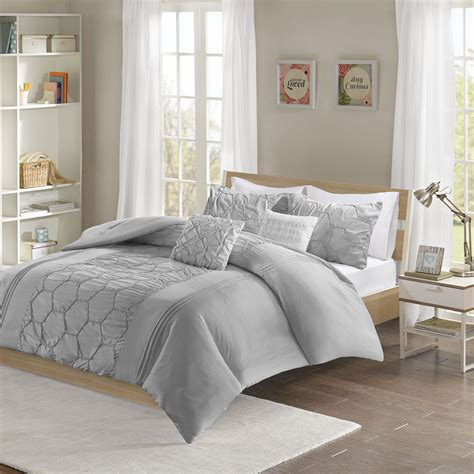 20731 grey bedding sets beautiful modern chic soft light blue aqua white black