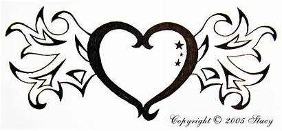 Hearts Heart Drawings Wings Drawing Draw Cool