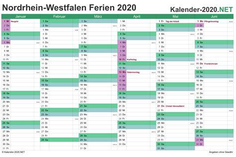 ferien nordrhein westfalen ferienkalender uebersicht