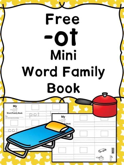 ot cvc word family worksheets   word family book